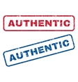 Authentic Rubber Stamps vector image vector image