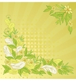 Background leaves flowers and feathers vector image
