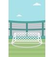 Background of soccer stadium vector image vector image