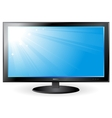 background with blue sky on TV screen vector image vector image