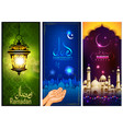 banner template for eid with message in arabic vector image vector image