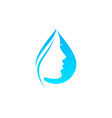 beauty water logo icon design vector image