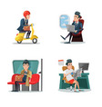 businessman at work business lifestyle vector image vector image