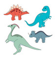 cartoon dinosaurs vector image vector image