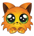Cartoon red kitten vector image vector image