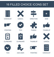 choice icons vector image vector image