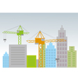 City with construction cranes vector image vector image