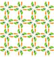 color carrot vegetable leaf plain seamless vector image