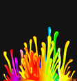 Colorful Drop Paint Splatter Background vector image vector image