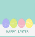 colorful painting easter egg set row of painted vector image vector image