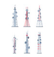 communication towers technological modern network vector image vector image