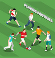 disabled person playing soccer isometric vector image vector image