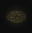 ellipse golden abstract on dark vector image vector image