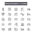 ergonomics icons line icons for web and mobile vector image vector image