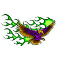 flaming eagle - vehicle graphic ready for vinyl vector image vector image