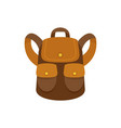 forest backpack icon flat style vector image