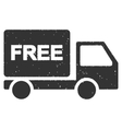 Free Delivery Icon Rubber Stamp vector image vector image