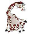 giraffe sitting vector image vector image