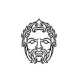 greek god zeus line art logo ancient god vector image