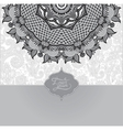 grey islamic vintage floral pattern template vector image
