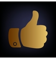 Hand sign Golden style icon vector image vector image