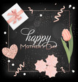 happy mothers day banner with flowers design vector image vector image