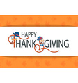 Happy Thanksgiving Day hipster logotype badge and vector image