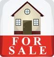 Home for sale icon vector image vector image