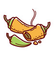 hot stuffed chiles rellenos isolated cartoon vector image vector image
