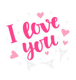 i love you concept vintage label sticker vector image