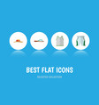 icon flat clothes set of sleeveless tank shorts vector image vector image