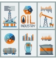 Industrial infographic design with oil and petrol vector image