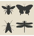 insects icon set vector image