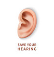 international ear care day concept background vector image