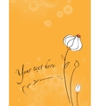 invitation with floral background vector image vector image
