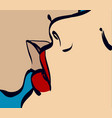 kissing couple art eps 10 vector image vector image