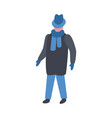 man in winter clothes in vector image vector image