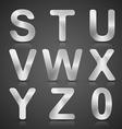Metallic Silver Alphabet Set vector image vector image