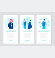 modern business - set of flat design style banners vector image vector image