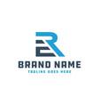 monogram logo letter initials er vector image vector image