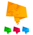 paper origami speech bubble vector vector image vector image