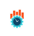productivity and efficiency concept icon vector image vector image