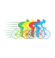 racing bikes with riders vector image