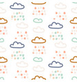 Rainy clouds pastel colors seamless pattern