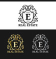 real estate monogram logo templates luxury vector image vector image