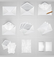 realistic paper and envelope set vector image