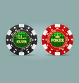 realistic poker chips vector image vector image