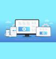 responsive website design concept vector image vector image