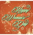 Retro typographic design for Happy Womens Day vector image