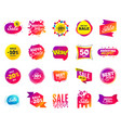 sale banner special offer template tags cyber vector image vector image